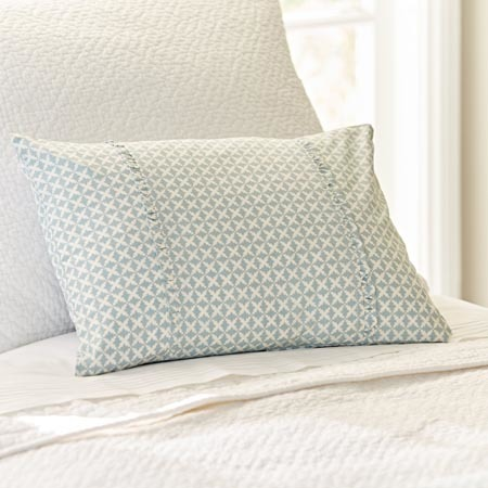 Charleston aqua boudoir pillow