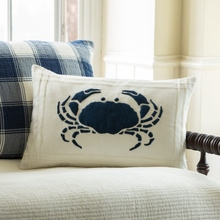 crab white pillow