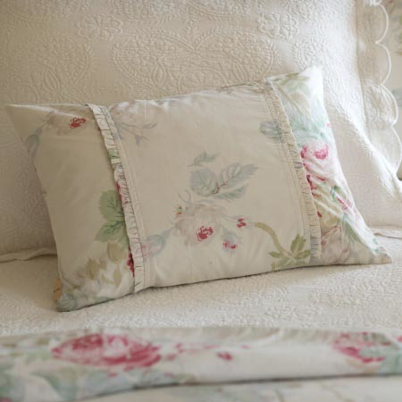 Cream Shore Rose Boudoir Pilloiw