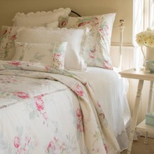 Cream Shore Rose duvet