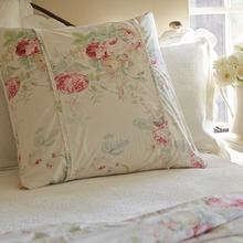 Cream Shore Rose Euro Sham