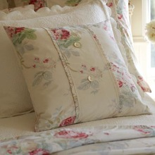Cream Shore Rose Porch Pillow
