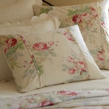 Cream Shore Rose Standard Sham