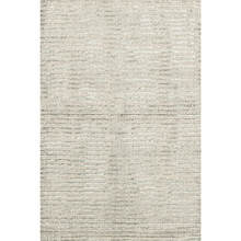 Cut Stripe Silver Hand Knotted Wool Rug