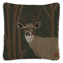 More about the 'Woodland Deer Hooked Pillow by Chandler 4 Corners' product