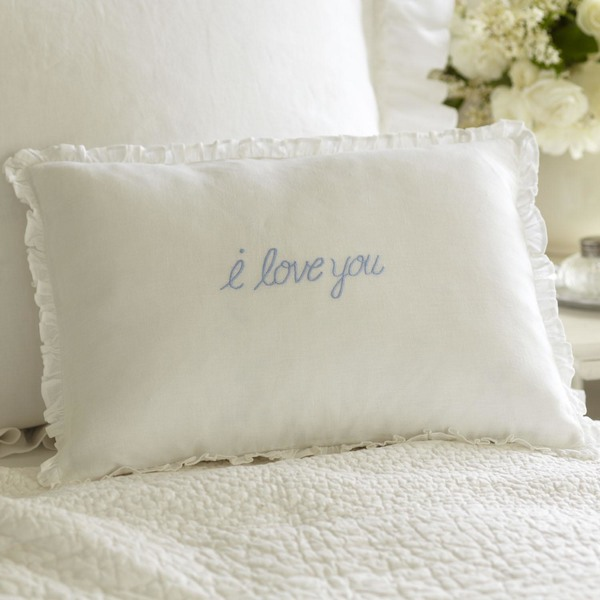 I Love You Pillow by Taylor Linens