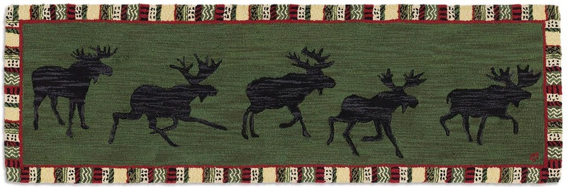 Argyle Green Moose Runner