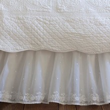 Daisy Dot white bed skirt