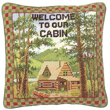 More about the 'Needlepoint Pillow - Cabin' product
