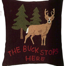 The Buck Stops Here Pillow