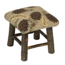 More about the 'Northwoods Cones Hickory Stool' product