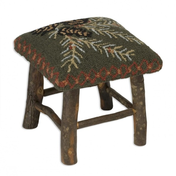 Pinecone Hickory Stool