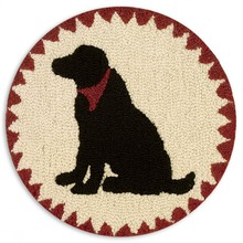 "More about the 'SET of 2 Black Lab 14"" Chairpads' product"