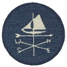 "More about the 'SET of 2 Weather Vane Sloop 14"" Chairpads' product"