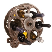 Gears and Wheels Wine Bottle Rack