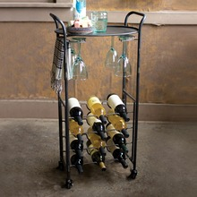 Industrial Rolling Wine Cart