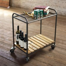 Industrial Modern Serving Cart on Wheels