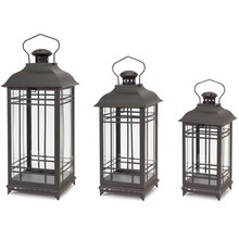 Metal Lanterns - Set of 3