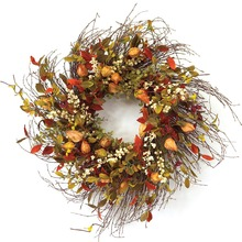 "24"" Cape Gooseberry Wreath - 50% OFF"