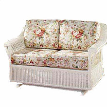 Bar Harbor Wicker Double Glider