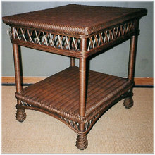 Bar Harbor Wicker End Table