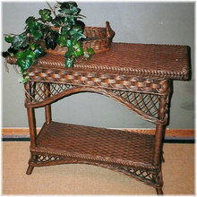 Bar Harbor Wicker Hall Table