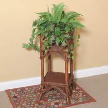 Bar Harbor Wicker Plant Stand