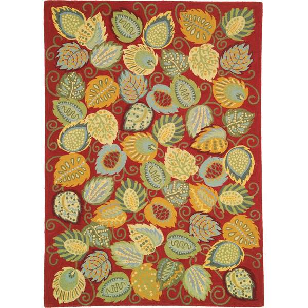 Foliage Hooked Wool Rug by Company C