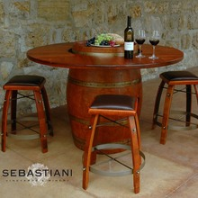 More about the 'Wine Barrel Table Set w/4 Stools' product