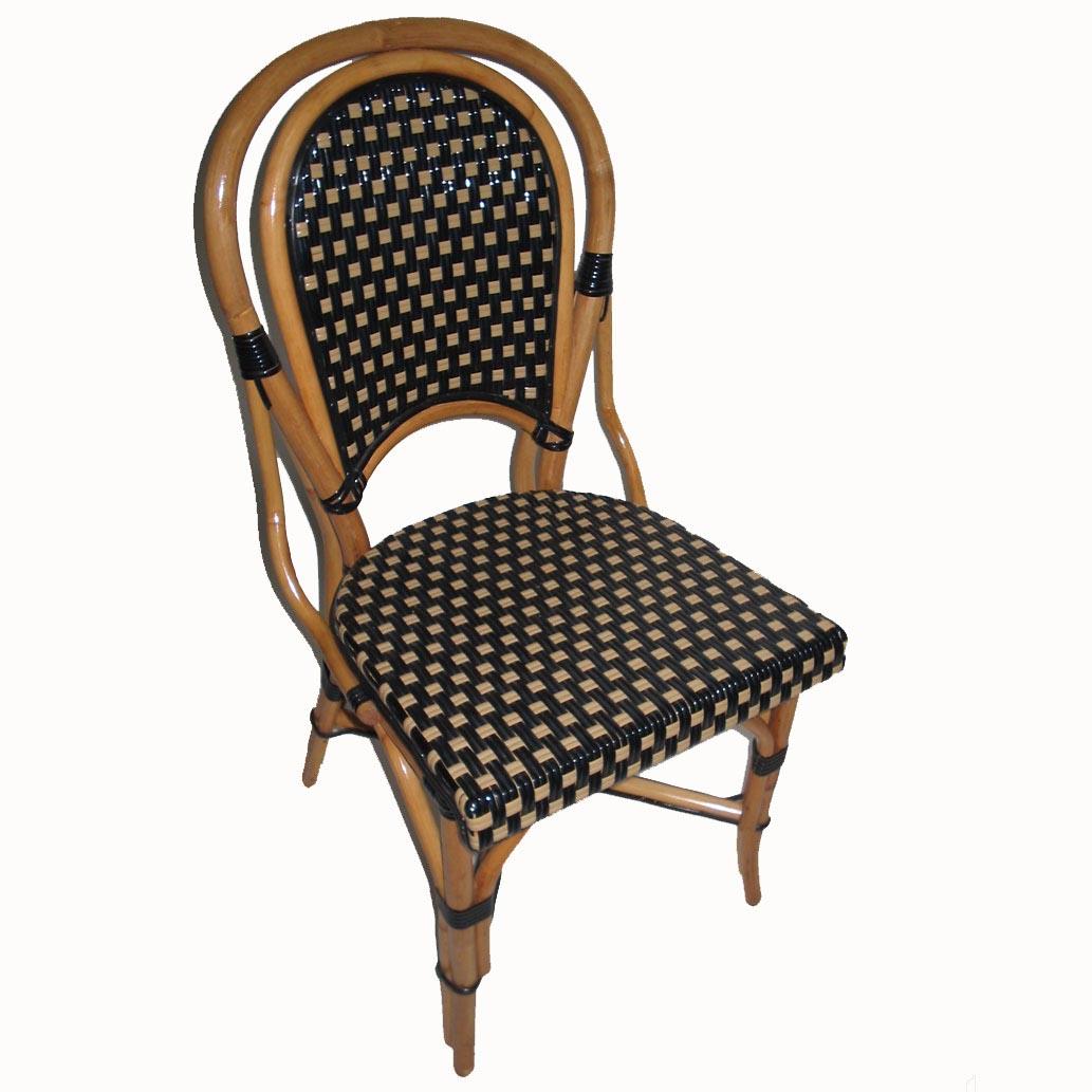 Montmartre Rattan Chair Black/Beige Shiney