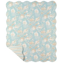 Natural Shells Quilted Throw