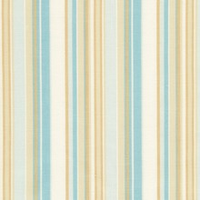 Aqua & Tan Stripe Dust Ruffle