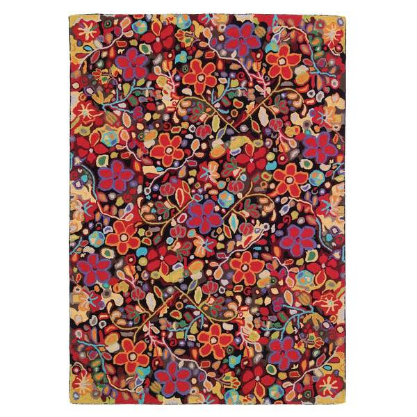 Wendy's Garden Hooked Wool Rug by Company C