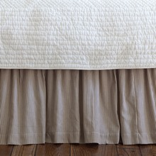 French Country Stripe Bed Skirt