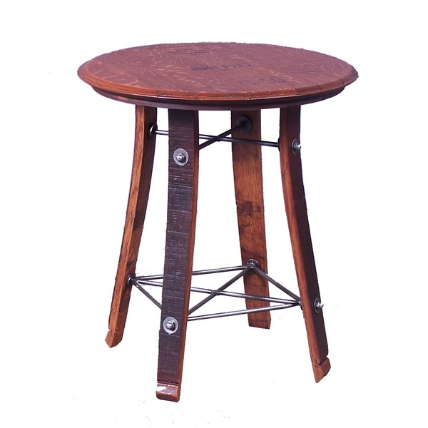 "24"" Barrel Top Side Table"