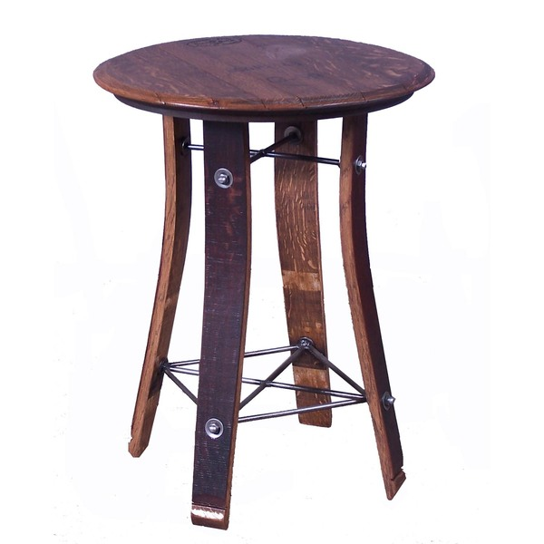 "28"" Barrel Top Side Table"