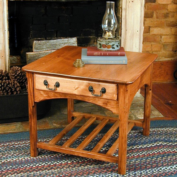 Southern Pine Shaker Large End Table