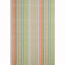 Ana Aqua Ticking Woven Cotton Rug by Dash & Albert