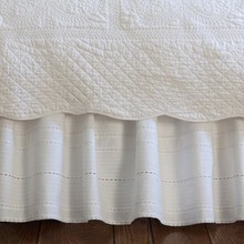 Elisa white bed skirt