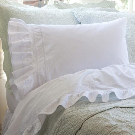 Elisa white sheet set