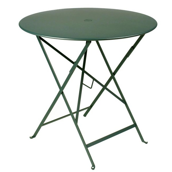 "Fermob Folding Table 30"" Round in Cedar Green"
