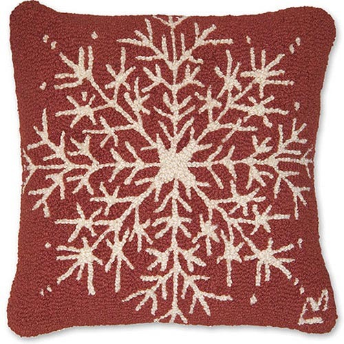 Snow Flake Hooked Pillow by Chandler 4 Corners
