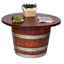 Half Barrel Cocktail Table