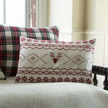 Fair Isle Embroidered Pillow