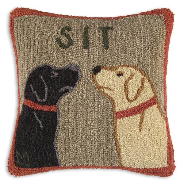 Sit Dog Pillow
