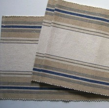 French Navy Blue Stripe Runner