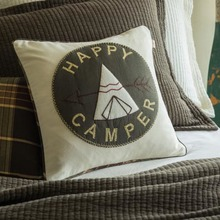 Happy Camper Pillow by Taylor Linens