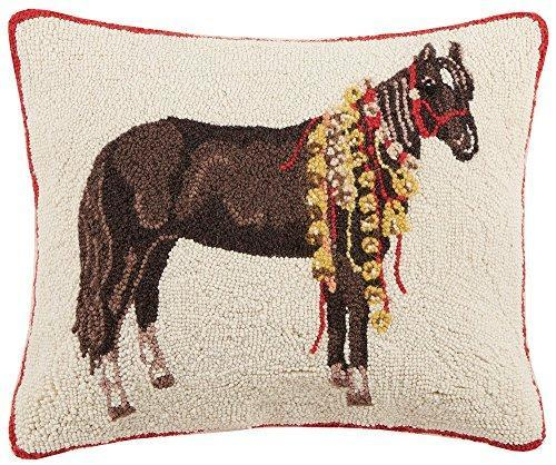 Horse with Bells Hooked Pillow