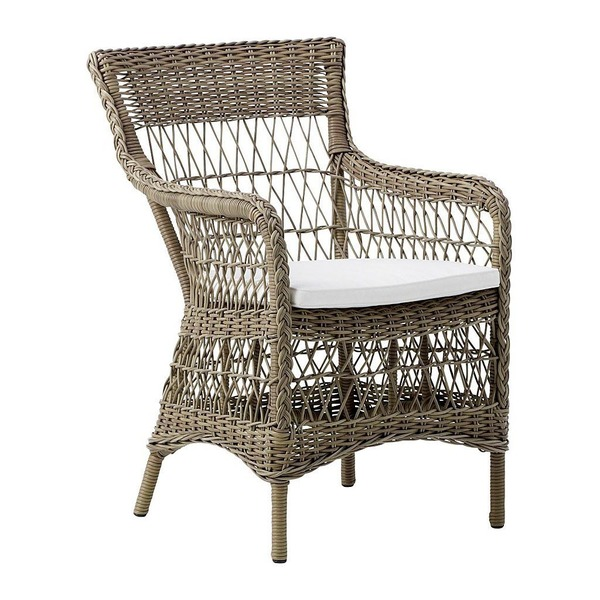 Marie Arm Chair by Sika in Antique with Cushion