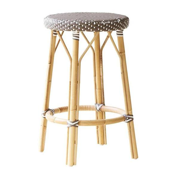 Simone Counter Stool by Sika in Cappuccino with White Dots